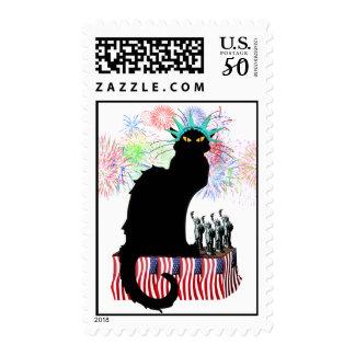 Lady Liberty - Patriotic Le Chat Noir Postage