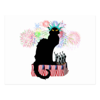 Lady Liberty - Patriotic Le Chat Noir Postcard