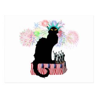Lady Liberty - Patriotic Le Chat Noir Postcard