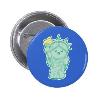 Lady Liberty Pinback Button