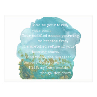 Lady Liberty Poem Postcard