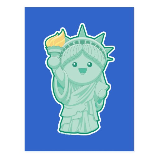 Lady Liberty Post Card
