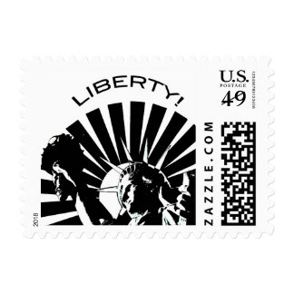 Lady Liberty Postage Stamps