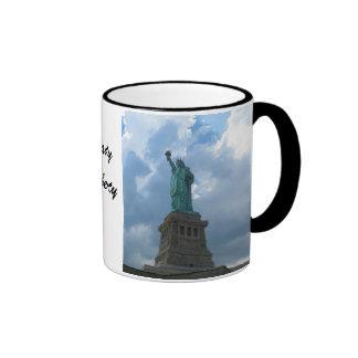 Lady Liberty Ringer Mug