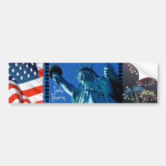Lady Liberty - STATUE OF LIBERTY Car Bumper Sticker