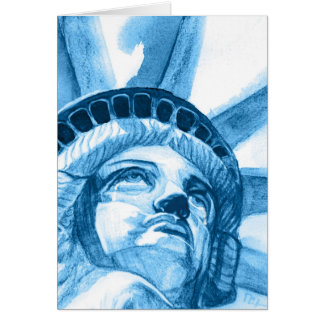 Lady Liberty tears Card