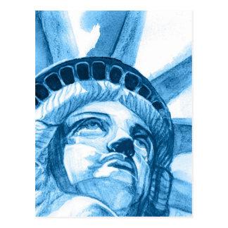 Lady Liberty tears Postcard