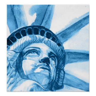 Lady Liberty tears Poster