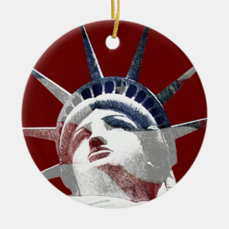 Lady Liberty Template Christmas Ornament
