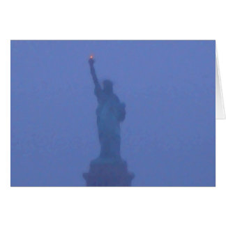 Lady Liberty The Statue of Liberty USA July 4th Greeting Card
