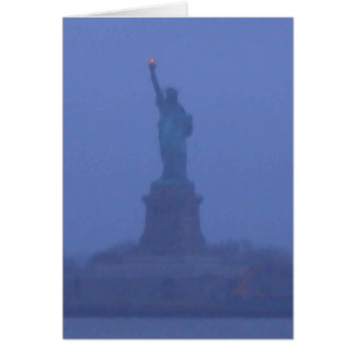 Lady Liberty The Statue of Liberty USA July 4th Card