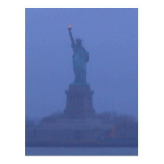 Lady Liberty The Statue of Liberty USA July 4th Postcard