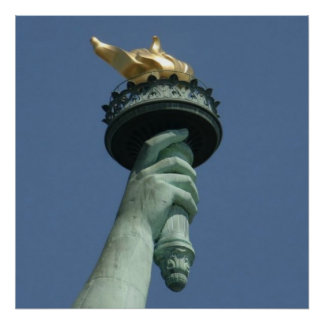 lady liberty torch Large.jpg Poster