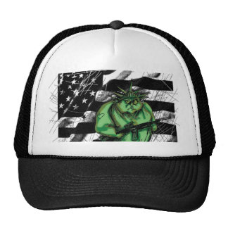 lady liberty trucker hat