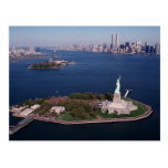 Lady Liberty & Twin Towers World Trade Center NYC Post Card