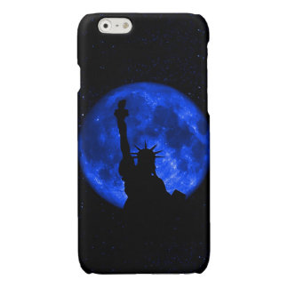 Lady Liberty Under the Blue Moon Glossy iPhone 6 Case