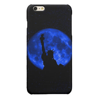 Lady Liberty Under the Blue Moon Glossy iPhone 6 Plus Case