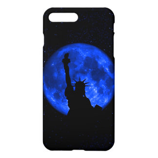 Lady Liberty Under the Blue Moon iPhone 7 Plus Case