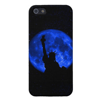 Lady Liberty Under the Blue Moon Case For iPhone 5