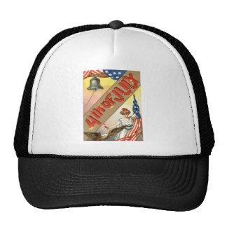 Lady Liberty US Flag Bald Eagle Trucker Hat
