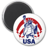 LADY LIBERTY USA FRIDGE MAGNET
