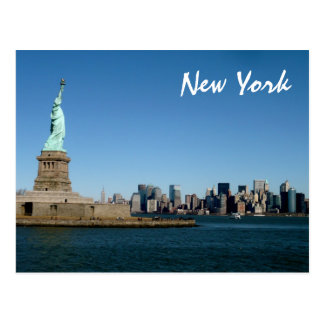 Lady Liberty Watches Over NYC (color) Postcard