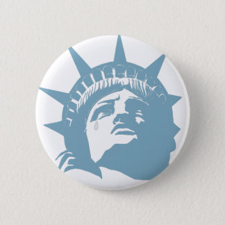 Lady Liberty with a tear Pinback Button