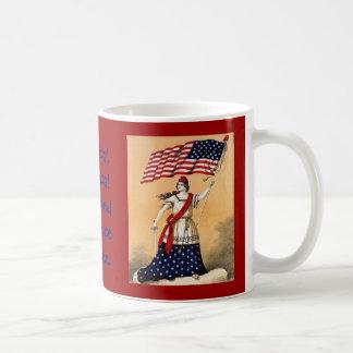 Lady Liberty with American Flag Coffee Mug