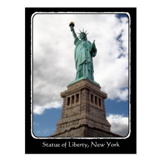Lady Liberty with border Postcard