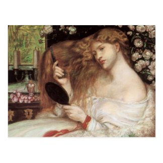 Lady Lilith by Rossetti, Vintage Victorian Portait Postcard