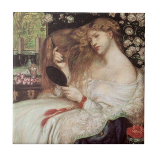 Lady Lilith by Rossetti, Vintage Victorian Portait Tiles