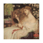 Lady Lilith by Rossetti, Vintage Victorian Portait Wood Canvases