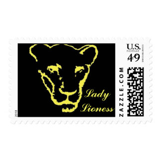 Lady Lioness Stamp