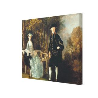 Lady Lloyd and her son, Richard Savage Lloyd, of H Canvas Prints