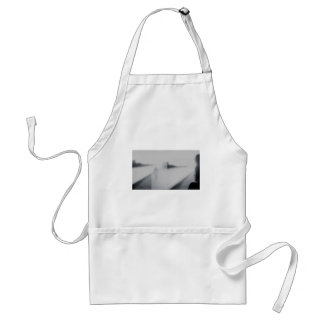 Lady looking AT man Analog 35mm black and white Adult Apron
