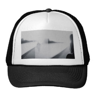 Lady looking AT man Analog 35mm black and white Trucker Hat