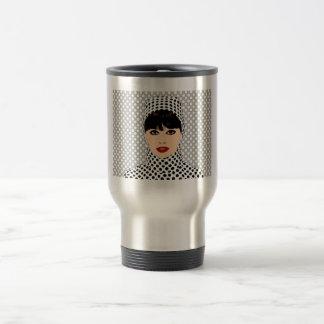 Lady Lotta Dots Black and White Mugs