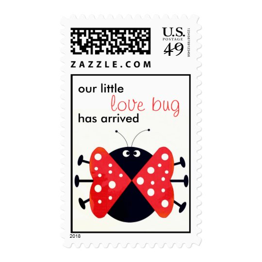lady love bug customizable stamp