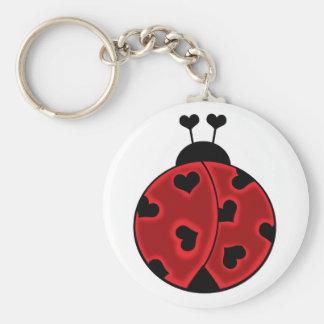 Lady Love Bug Keychain