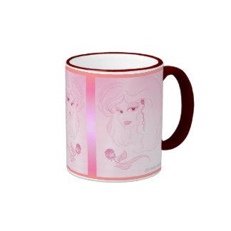 Lady Love in Pink Coffee Mugs