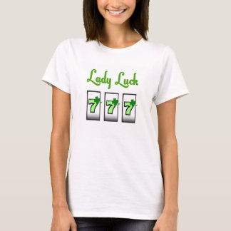 Lady Luck 4 leaf Clover 777 Baby Doll Shirt