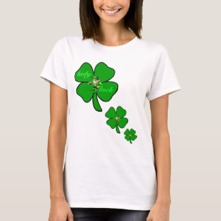 Lady luck 4 leaf clover leprecon t-shirt