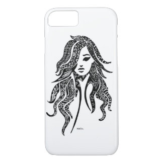 Lady Luck -abstract lack Design iPhone 8/7 Case