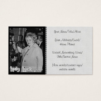 Lady Luck Business Card