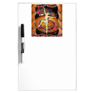 Lady Luck , casino roulette cards gaming montage Dry-Erase Board