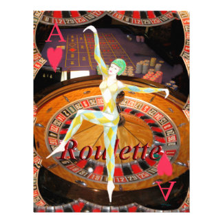 Lady Luck , casino roulette cards gaming montage Letterhead
