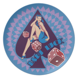 Lady Luck Dinner Plate