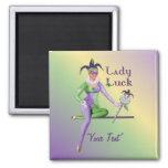 Lady Luck Harlequin Fridge Magnets