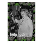 Lady Luck Large Business Cards (Pack Of 100)