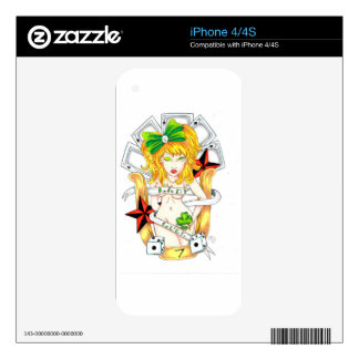 lady luck skins for iPhone 4